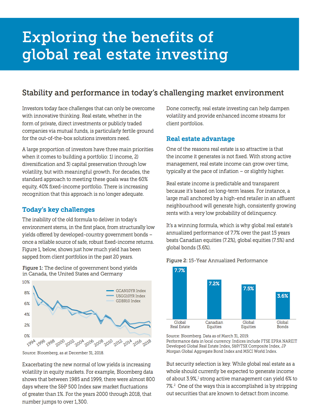 Exploring the Benefits of Global Real Estate Investing